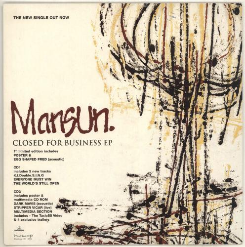 Mansun Closed For Business display UK M-SDICL714469