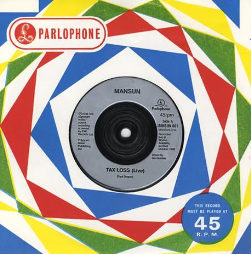 "Mansun Tax Loss 7"" vinyl single (7 inch record) UK M-S07TA216407"