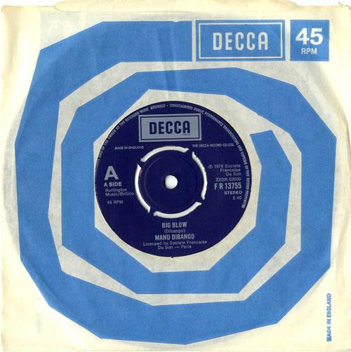 "Manu Dibango Big Blow 7"" vinyl single (7 inch record) UK 3MD07BI601067"
