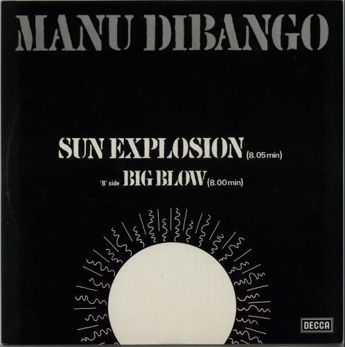 "Manu Dibango Sun Explosion 12"" vinyl single (12 inch record / Maxi-single) UK 3MD12SU648882"