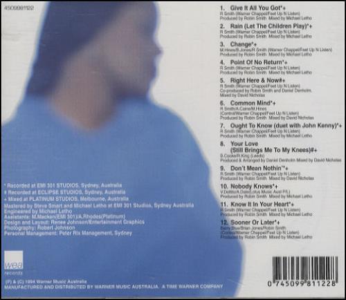 Marcia Hines Right Here And Now CD album (CDLP) Australian MHICDRI103647