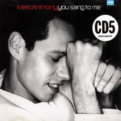 "Marc Anthony You Sang To Me CD single (CD5 / 5"") US MAHC5YO354576"