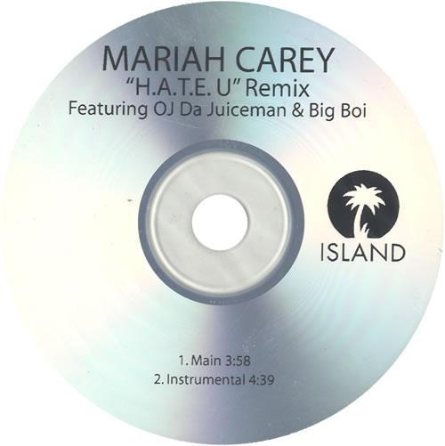 Mariah Carey H.A.T.E. U Remix CD-R acetate US CRYCRHA496370