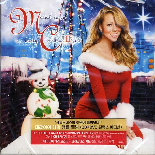 Mariah Carey Christmas.Mariah Carey Merry Christmas Ii You 3d Christmas Card Korean 2 Disc Cd Dvd Set