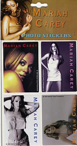 Mariah Carey Set Of 4 Photo Stickers memorabilia Danish CRYMMSE280688