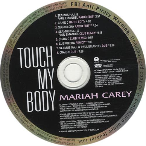 "Mariah Carey Touch My Body - The Remixes CD single (CD5 / 5"") US CRYC5TO433885"