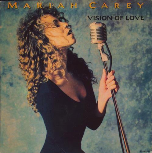 "Mariah Carey Vision Of Love 7"" vinyl single (7 inch record) UK CRY07VI30802"