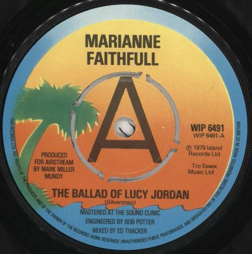 "Marianne Faithfull (The Ballad Of) Lucy Jordan - Demo - P/S 7"" vinyl single (7 inch record) UK MRN07TH733072"