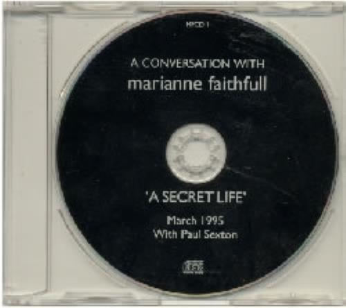 Marianne Faithfull A Conversation With - A Secret Life CD album (CDLP) UK MRNCDAC84689