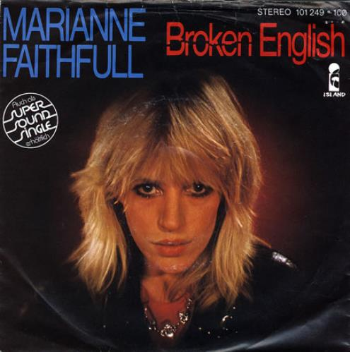 Marianne Faithfull Broken English German 7 Quot Vinyl Single