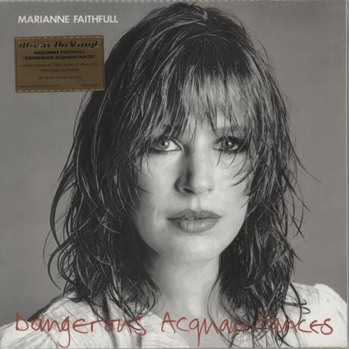 Marianne Faithfull Dangerous Acquaintances - 180 Gram White Vinyl vinyl LP album (LP record) UK MRNLPDA752617