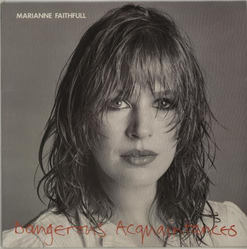 Marianne Faithfull Dangerous Acquaintances vinyl LP album (LP record) UK MRNLPDA291034