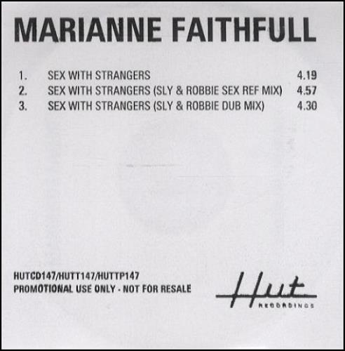 Marianne Faithfull Sex With Strangers CD-R acetate UK MRNCRSE204796