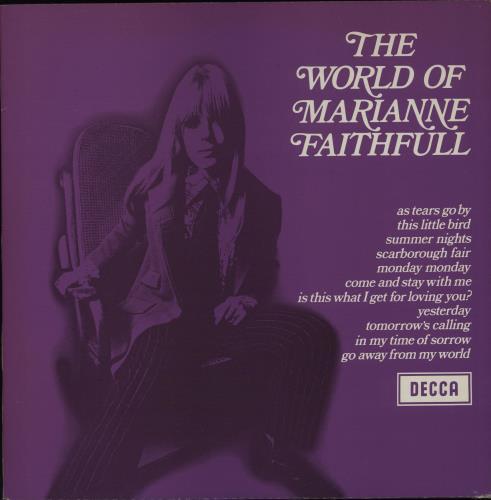 Marianne Faithfull The World Of Marianne Faithfull - 80s vinyl LP album (LP record) UK MRNLPTH603588