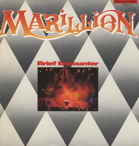 Marillion Brief Encounter - Promo Stamped Sleeve vinyl LP album (LP record) US MARLPBR74570