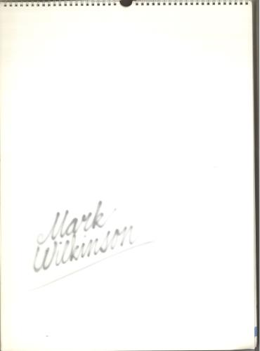 Marillion Exclusive Mark Wilkinson Cover Art Calendar 1987 calendar Dutch MARCAEX712132
