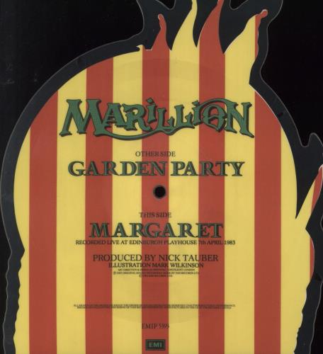 Marillion Garden Party  - EX shaped picture disc (picture disc vinyl record) UK MARSHGA728035