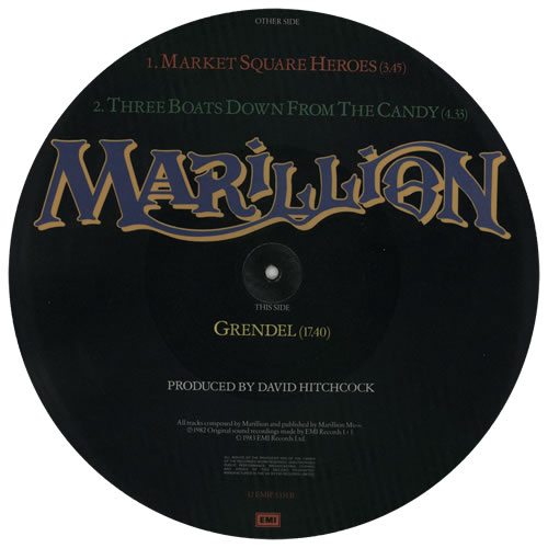 "Marillion Market Square Heroes 12"" vinyl picture disc 12inch picture disc record UK MAR2PMA00372"