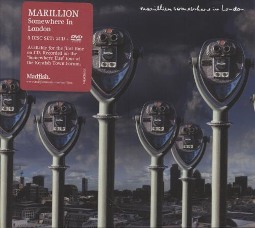Marillion Somewhere In London 3-disc CD/DVD Set UK MAR3DSO747853