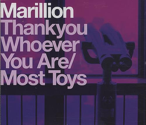 Marillion Thank You Whoever You Are / Most Toys 2-CD single set (Double CD single) UK MAR2STH402591