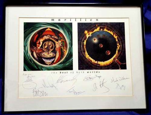 Marillion The Best Of Both Worlds - Signed Litho memorabilia UK MARMMTH700212