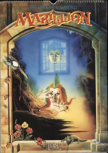 Marillion The Official 1987 Calendar - Autographed calendar UK MARCATH711678