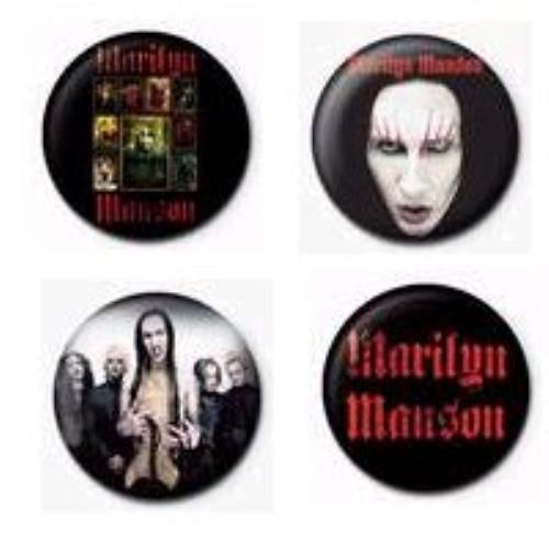 Marilyn Manson Badge Set badge UK MYMBGBA338222