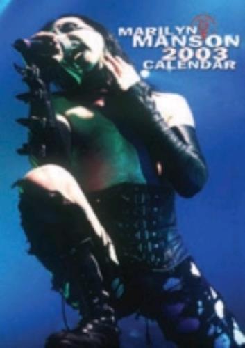 Marilyn Manson Calendar 2003 calendar UK MYMCACA225252