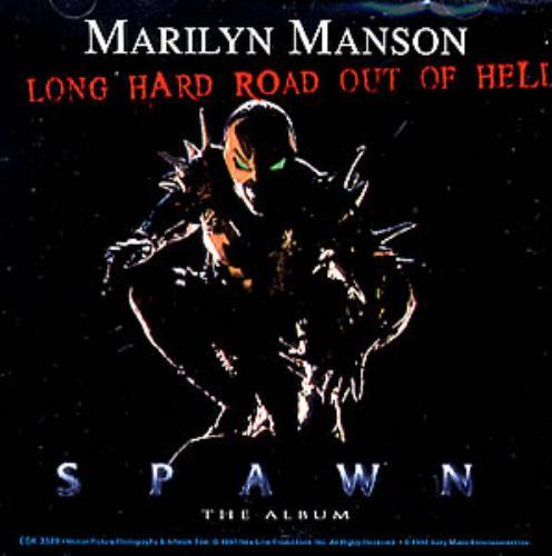 "Marilyn Manson Long Hard Road Out Of Hell CD single (CD5 / 5"") US MYMC5LO98982"