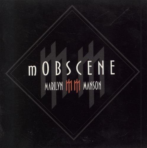 "Marilyn Manson Mobscene CD single (CD5 / 5"") Mexican MYMC5MO242849"