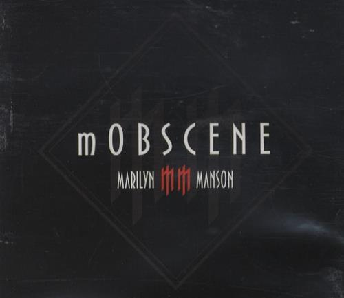 "Marilyn Manson Mobscene CD single (CD5 / 5"") UK MYMC5MO247103"