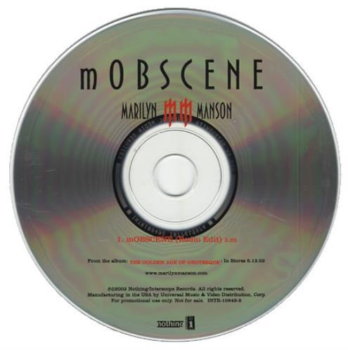 "Marilyn Manson Mobscene CD single (CD5 / 5"") US MYMC5MO248208"