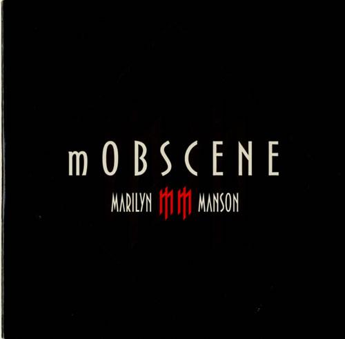 """Marilyn Manson mOBSCENE CD single (CD5 / 5"""") UK MYMC5MO579430"""