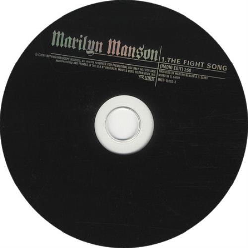 "Marilyn Manson The Fight Song CD single (CD5 / 5"") US MYMC5TH180106"