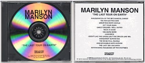 Marilyn Manson The Last Tour On Earth CD-R acetate US MYMCRTH148412
