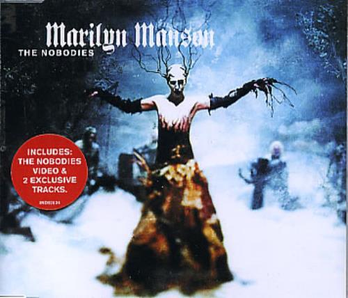 "Marilyn Manson The Nobodies CD single (CD5 / 5"") UK MYMC5TH195624"