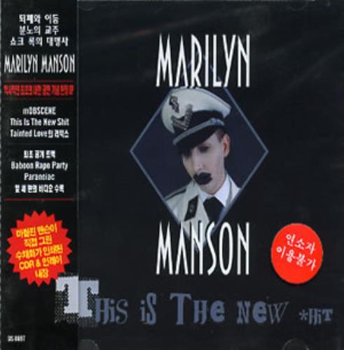 "Marilyn Manson This Is The New #hit CD single (CD5 / 5"") Korean MYMC5TH293916"