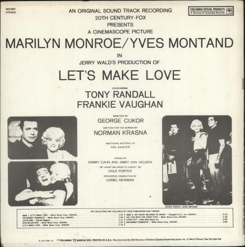 Marilyn Monroe Let's Make Love vinyl LP album (LP record) US MLNLPLE698911