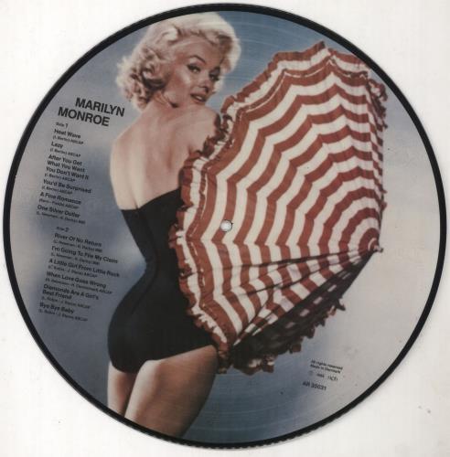 Marilyn Monroe Marilyn Monroe picture disc LP (vinyl picture disc album) Danish MLNPDMA356380