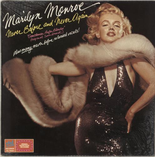 Marilyn Monroe Never Before And Never Again - shrink vinyl LP album (LP record) US MLNLPNE496848
