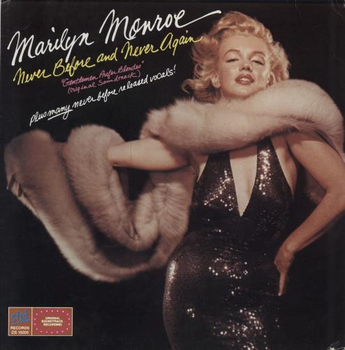 Marilyn Monroe Never Before And Never Again vinyl LP album (LP record) US MLNLPNE612478