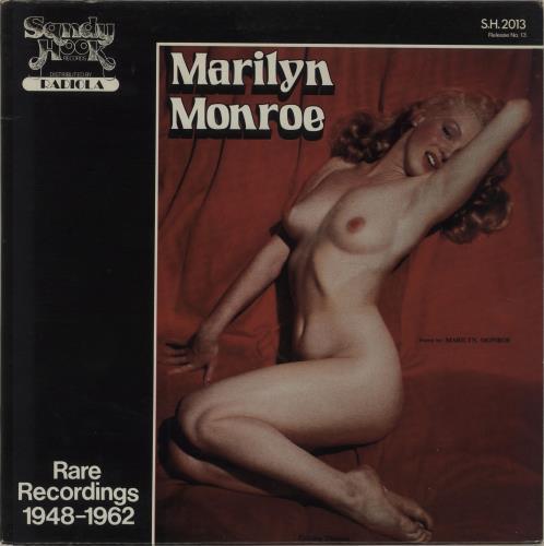 Marilyn Monroe Rare Recordings 1948-1962 vinyl LP album (LP record) US MLNLPRA678967