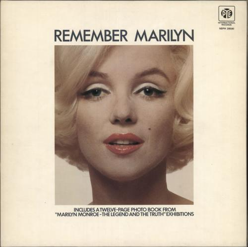 Marilyn Monroe Remember Marilyn - purple label vinyl LP album (LP record) UK MLNLPRE730148