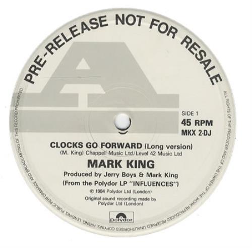 "Mark King Clocks Go Foward - Promo 12"" vinyl single (12 inch record / Maxi-single) UK MKI12CL118339"