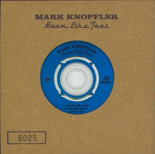 "Mark Knopfler Boom, Like That CD single (CD5 / 5"") UK KNOC5BO303762"