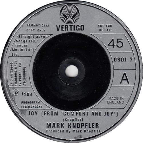 "Mark Knopfler Joy 7"" vinyl single (7 inch record) UK KNO07JO05953"