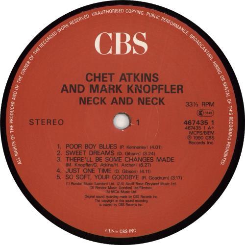 Mark Knopfler Neck And Neck vinyl LP album (LP record) UK KNOLPNE710137