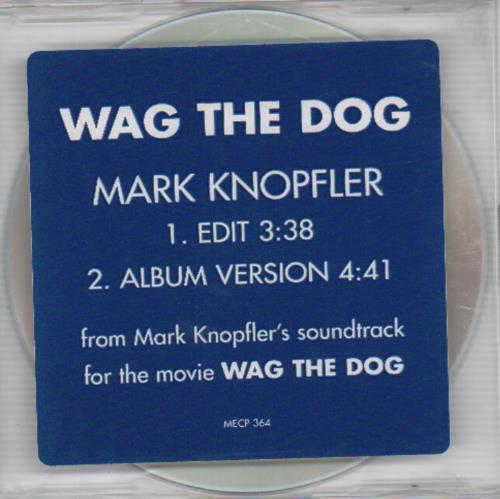 "Mark Knopfler Wag The Dog CD single (CD5 / 5"") US KNOC5WA107057"