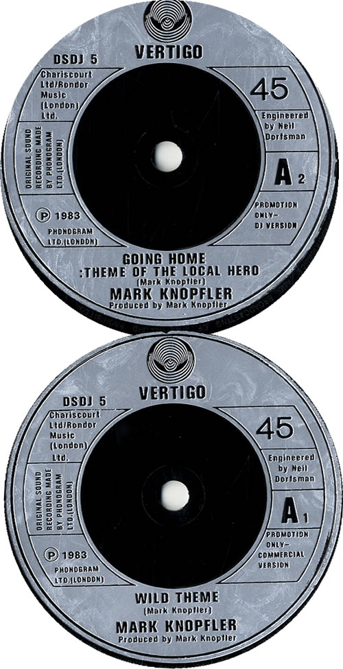 "Mark Knopfler Wild Theme 7"" vinyl single (7 inch record) UK KNO07WI101657"