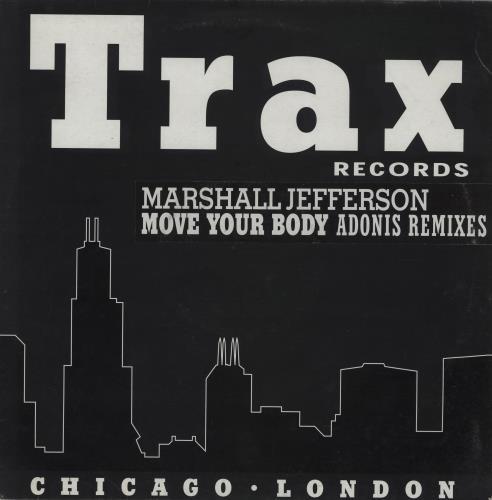 "Marshall Jefferson Move Your Body - The Adonis Remixes 12"" vinyl single (12 inch record / Maxi-single) UK MJF12MO755458"